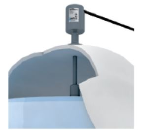 Example of in-tank continuous level sensor