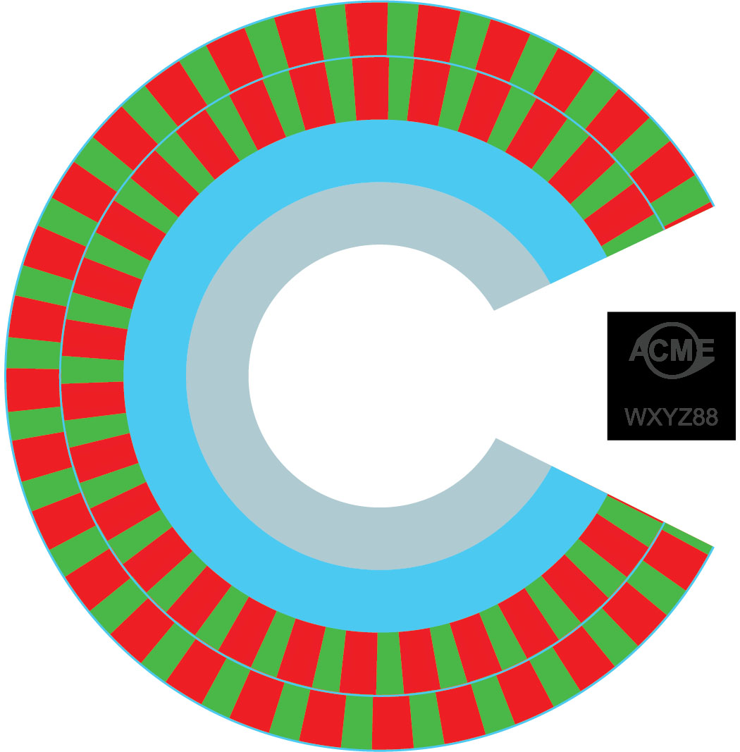 Example of an absolute-coded magnetic encoder disk