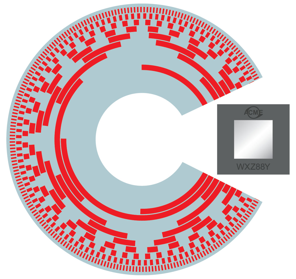 Example of an absolute-coded optical encoder disk