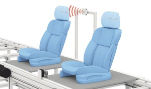UHF RFID used to ensure the proper headrest is placed on automotive seats.